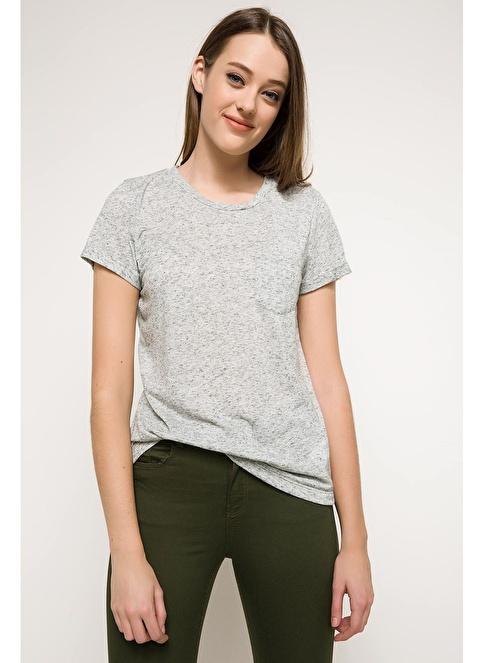 DeFacto Kısa Kollu T-shirt Haki